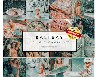 10 Mobile Lightroom Presets Bali Bay Instagram presets Lightroom mobile presets Desktop presets Photo filter Travel Summer presets