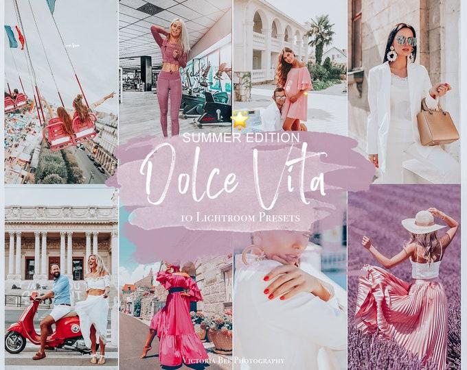 10 Mobile Lightroom Presets DOLCE VITA for Lightroom Mobile,  Instagram filter for Travel Bloggers, Lifestyle Photo Editing
