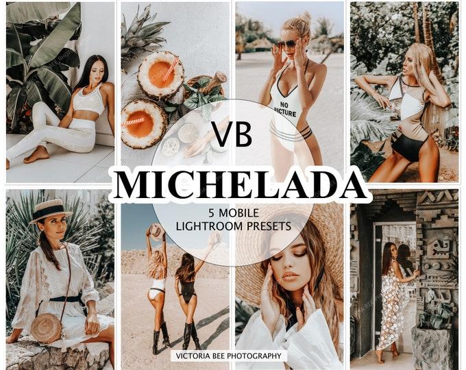 5 Mobile Lightroom Presets MICHELADA Mobile Instagram presets Lightroom Blogger presets Lifestyle presets Instagram Photo filter