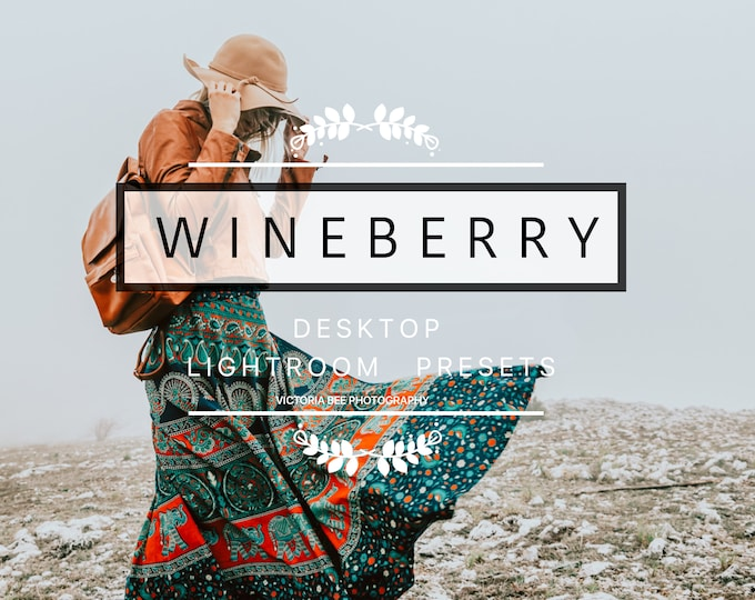 Desktop Lightroom Preset WINEBERRY Hipster Lightroom Preset  Modern Tones Lightroom Presets For Photographers