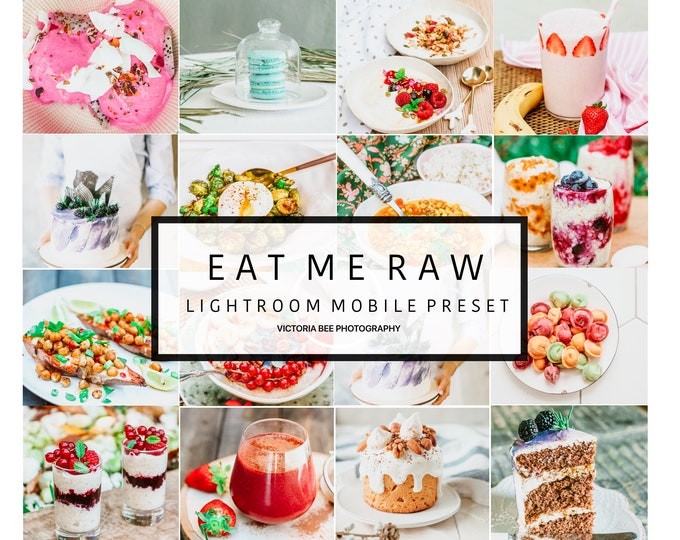 5  Lightroom Mobile Presets EAT ME RAW Food Blogger Lightroom Presets Instagram Mobile Preset Food filter Lightroom mobile presets