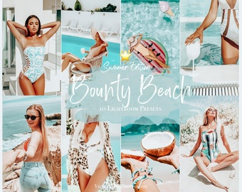 10 Mobile Presets BOUNTY BEACH Summer Presets Lightroom Mobile, Bright and Airy Presets for Bloggers, Instagram Filter, Beach presets