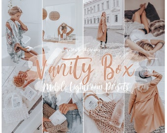 5 Mobile Lightroom Preset VANITY BOX, Instagram Lifestyle Preset for Bloggers, Fashion Warm Presets, Beauty Preset for Influencer