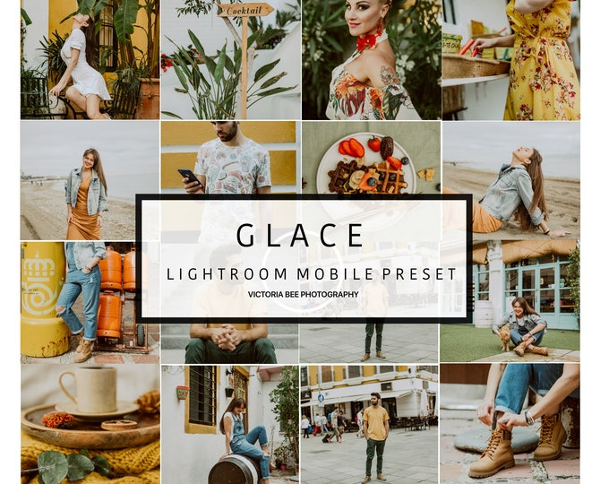 5 Lightroom Mobile Presets GLACE Instagram Lifestyle Lightroom Preset for Blogger Lightroom Mobile Preset