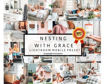 3 Lightroom Mobile Presets NESTING WITH GRACE | Sweet Home Lightroom Preset Blogger Instagram Lifestyle