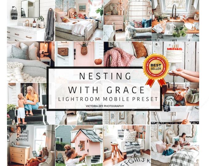 3 Lightroom Mobile Presets NESTING WITH GRACE   Sweet Home Lightroom Preset Blogger Instagram Lifestyle