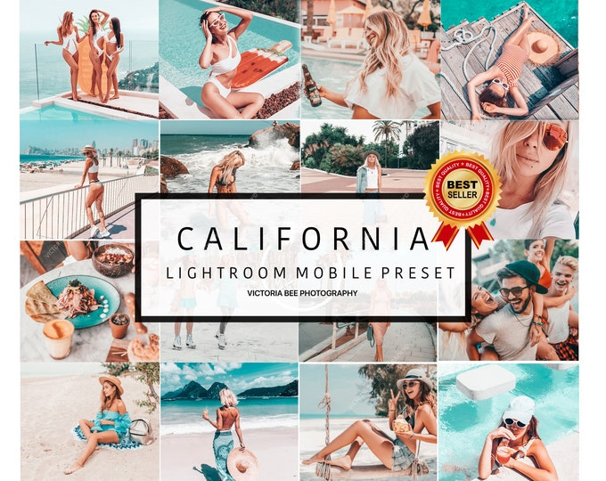 5 Mobile Lightroom Presets CALIFORNIA , Blogger Lightroom Mobile Presets / Bright Summer Presets / Instagram Presets