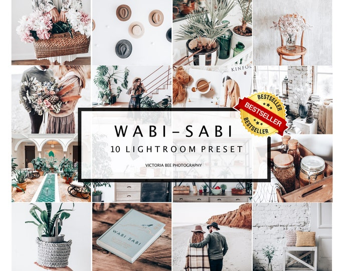 10 Mobile Lightroom Presets WABI-SABI Presets for Mobile and Desktop Lightroom, Crisp and Clean Lightroom Minimal Preset for Photo Editing