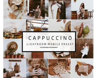 5 Mobile Lightroom Preset CAPPUCCINO Modern Tones Blogger Preset Lightroom mobile preset for bloggers