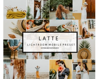 5 Mobile Lightroom Preset LATTE Modern Lifestyle Instagram Preset, Lightroom Mobile Preset for Bloggers