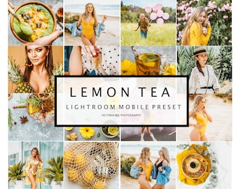 5 Mobile Lightroom Preset LEMON TEA Winter Holiday Bright Lightroom Preset Clean Quality Mobile Preset