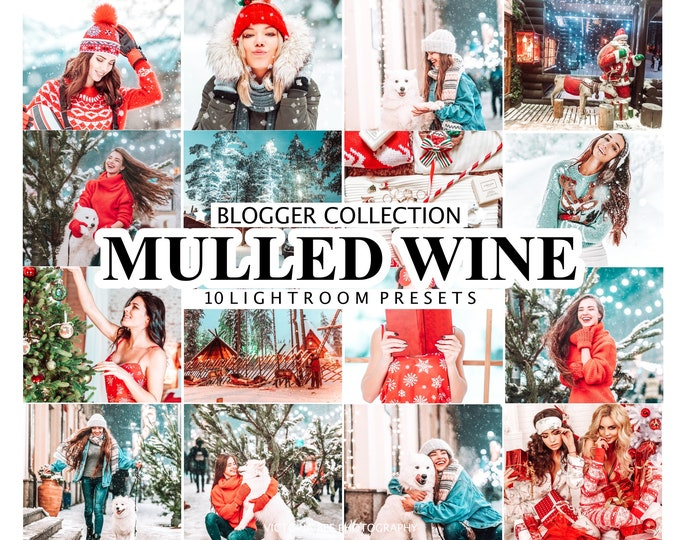 10 Mobile Lightroom Presets Mulled Wine, Christmas Winter Lightroom mobile Presets, Desktop Presets, Blogger  Holiday Preset