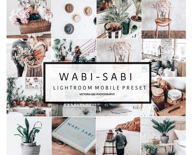 5  Lightroom Mobile Presets WABI-SABI Crisp and Clean Tones Lightroom Preset Bright Airy Minimal Preset for Photos Editing