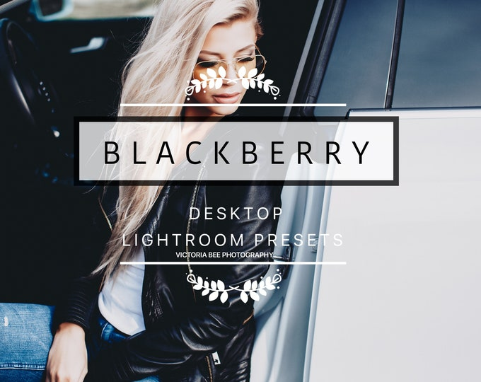 Desktop Lightroom Preset BLACKBERRY Lifestyle and Fashion Lightroom Presets