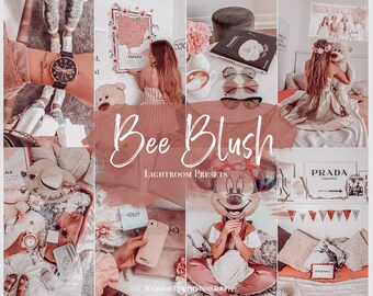 5 Mobile Lightroom Preset BEE BLUSH / Lightroom Mobile Presets for Instagram Bloggers/  PINK Preset / Influencer Lightroom Lifestyle preset