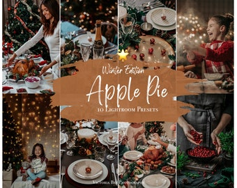 10 Mobile Lightroom Presets - APPLE PIE, Lightroom Mobile, Christmas Instagram Presets, Winter presets, Photo Filter Instagram Filter