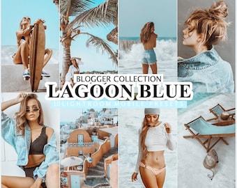 10 Mobile LIGHTROOM Presets LAGOON BLUE, Desktop Preset for Lightroom, Mobile Presets for Blogger, Instagram Filter