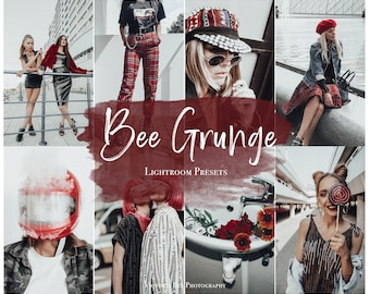 3 Mobile Lightroom Presets BEE GRUNGE, Minimal Blogger Preset for Instagram, Photo Filter for Influencer, Victoria Bee Presets
