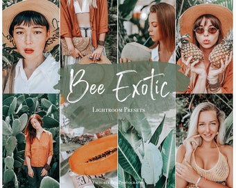 5 Mobile Lightroom Presets BEE EXOTIC Tropical Lightroom Preset, Summer Presets for Photo Editing, Instagram Filter