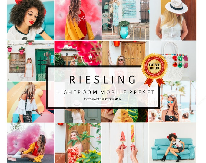 5 Lightroom Mobile Presets RIESLING Color Pop,Vibrant Lightroom Presets,Instagram Presets,Summer Presets,Blogger presets,Travel presets