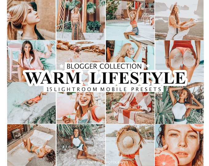 15 Lightroom Presets WARM LIFESTYLE for Mobile and Desktop Lightroom / Warm Lightroom Preset / Orange Photo Edit For Instagram