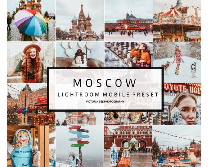 5 Mobile Lightroom Preset MOSCOW Travel Lightroom Preset Warm Toned Blogger Preset