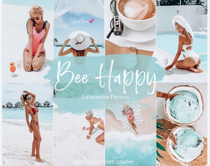 5 Mobile Lightroom Preset BEE HAPPY Influencer Lightroom Preset Travel Blogger Instagram Lifestyle Fashion Photography