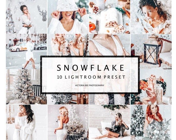 10 Mobile  Lightroom Presets SNOWFLAKE, Christmas Mobile Lightroom Presets, Winter Lightroom Desktop Presets