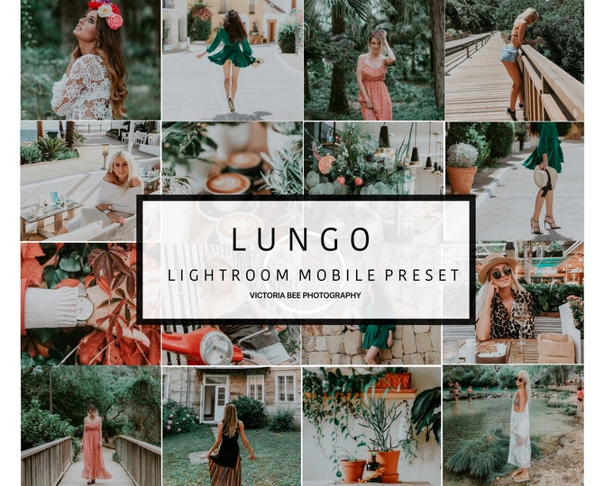 Mobile Lightroom Preset LUNGO Modern Lifestyle Instagram Preset Lightroom Mobile Preset for Bloggers