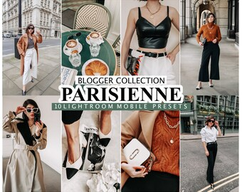 10 Lightroom Presets PARISIENNE  for desktop and mobile Lightroom , Instagram Filters for Bloggers, French Presets for  Influencer Preset