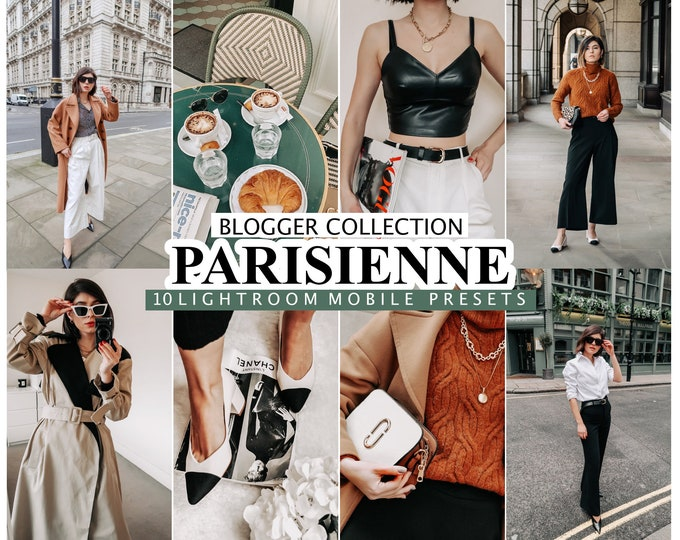 10 Lightroom Presets PARISIENNE  for desktop and mobile LIGHTROOM/  Instagram Filters /  French Presets / Influencer Preset / Photo Editing