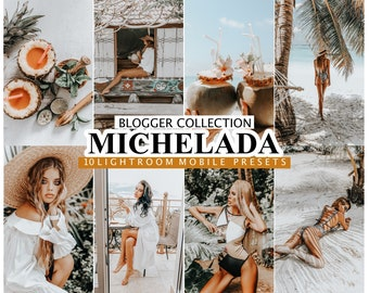 10 Lightroom Presets MICHELADA For Mobile and Desktop Lightroom, Influencer preset, Blogger Lifestyle Presets for Instagram, Photo filter