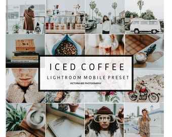 5 Mobile Lightroom Preset ICED COFFEE, Blogger Lifestyle Mobile Preset, Instagram Edition, Lightroom Preset for Travel Blogger