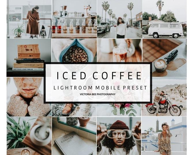 Mobile Lightroom Preset ICED COFFEE, Blogger Lifestyle Mobile Preset, Instagram Edition, Lightroom Preset for Travel Blogger