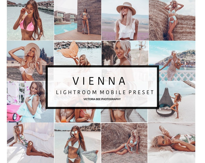 Mobile Lightroom Preset VIENNA, Beach Mobile Preset, Tanned Skin Preset Instagram Look,  Blogger Lightroom Mobile Preset