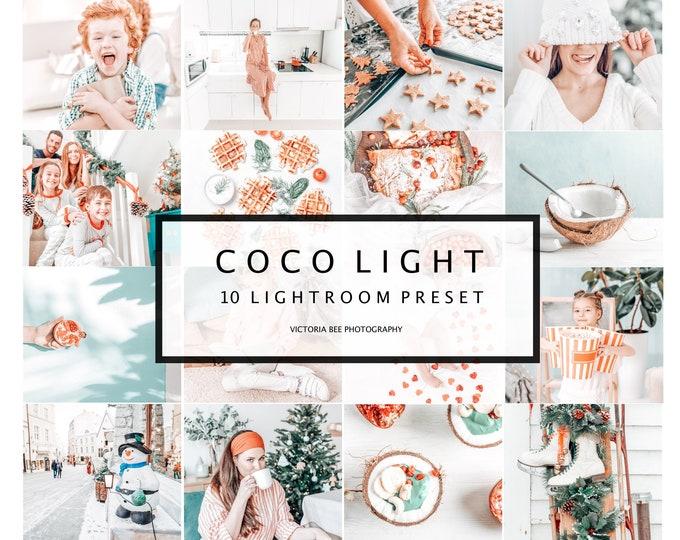 10 Mobile Lightroom Presets Coco Light, Lightroom Desktop Presets, Instagram Presets, Light and Airy Preset for Bloggers