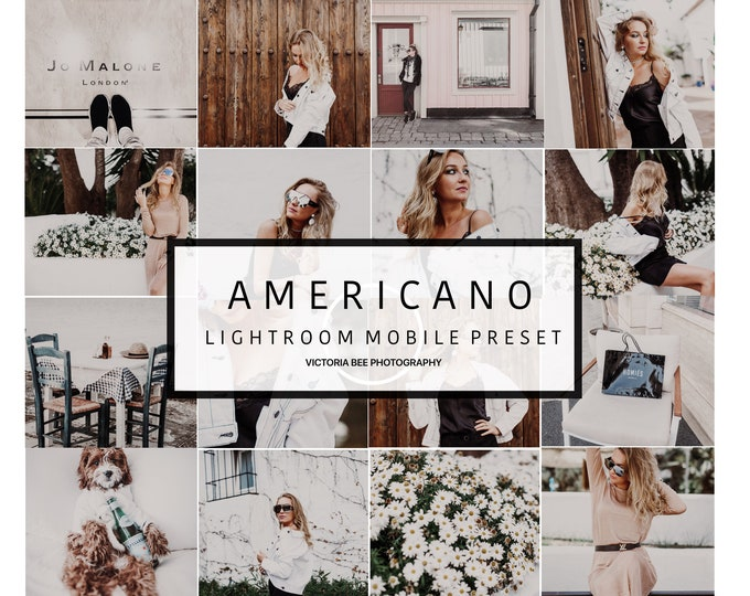 5 Mobile Lightroom Preset AMERICANO Trendy Instagram Blogger Travel Lightroom Preset Bright and Airy Lightroom Mobile Presets