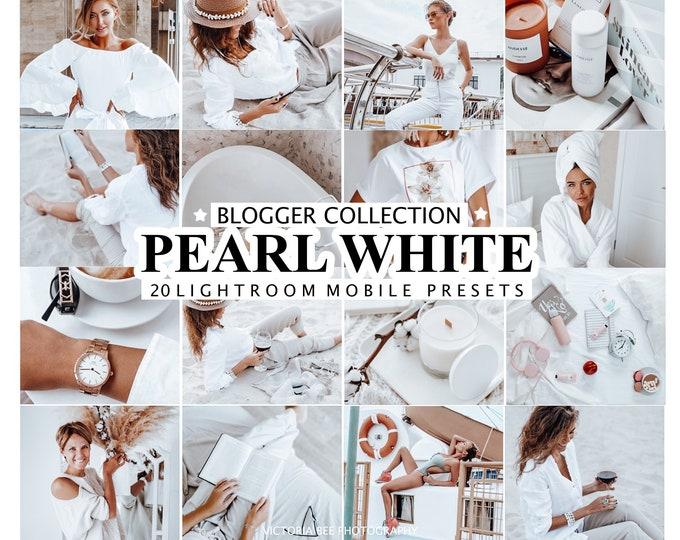 20 Mobile LIGHTROOM Presets, Instagram Presets White Lifestyle Preset Lightroom Soft White Preset Bright Photo Filter Indoor photo filters