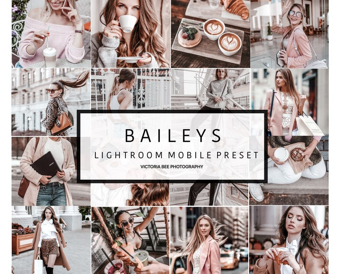 5 Mobile Lightroom Preset BAILEYS Creamy Mobile Preset For Fashion Blogger