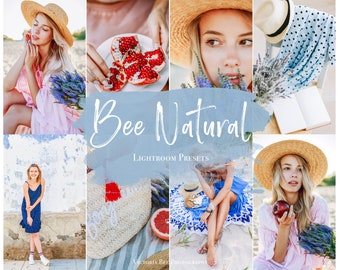 5 Mobile Lightroom Preset BEE NATURAL, Bright and Airy Photo Editing, Natural Preset Tones Lightroom Editing For Instagram Bloggers