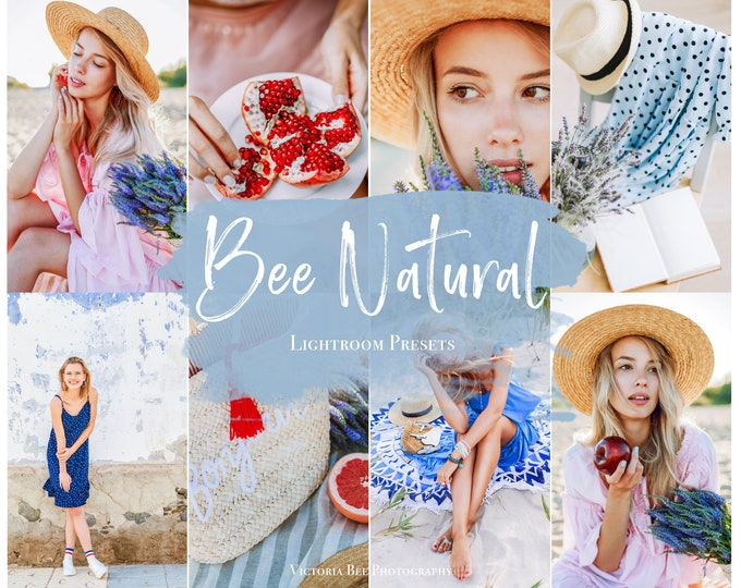 5 Mobile Lightroom Preset BEE NATURAL, Bright and Airy Photo Editing, Natural Tones Lightroom Preset For Instagram Bloggers