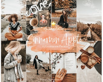 15 LIGHTROOM Presets Cinnamon Apple, Autumn Filter, Moody Presets for Instagram, Mobile and Desktop Presets for Blogger, Fall Photo Editing