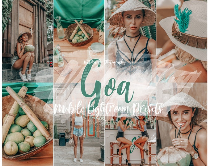 5 Mobile Lightroom presets GOA Summer Lightroom Presets Travel Instagram Preset for Bloggers and Influencers