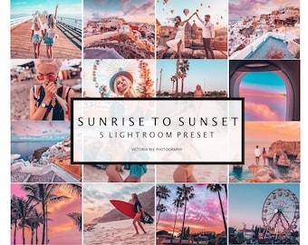 5 Mobile Lightroom Presets SUNRISE TO SUNSET, Vibrant Instagram Lightroom Preset for Bloggers,  Lifestyle Presets for Instagram