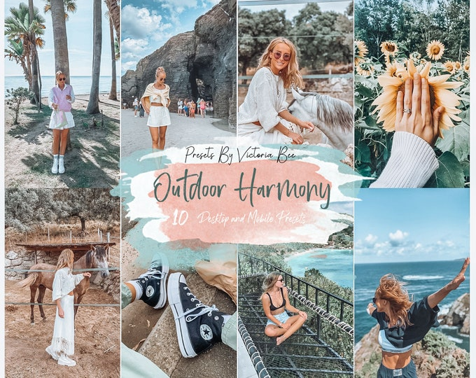 10 Outdoor Lightroom Presets OUTDOOR HARMONY for Desktop and Mobile Lightroom, Instagram Photo Filter, Outdoor Instagram Filter