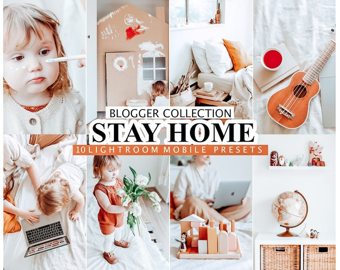10 Mobile Lightroom Presets Stay Home - Instagram Presets, Lifestyle presets, Lightroom Mobile Presets Mobile Lightroom Presets