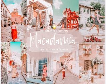 10 Mobile Lightroom Presets MACADAMIA, Instagram Filter, Travel Presets for Influencer, Lightroom Blogger Collection