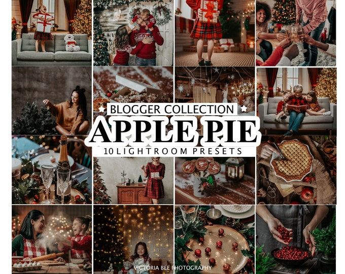 10 Mobile Lightroom Presets, Lightroom Mobile Christmas  Instagram Preset for winter holiday,  Desktop Presets for Bloggers,  Photo Filter
