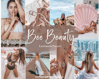 5 Lightroom Mobile Presets Bee Beauty, Instagram Presets for Bloggers, Photo Filter forInfluencer, Mobile Presets for Beauty Blogger