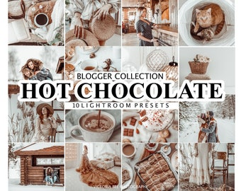 10 Mobile Lightroom Mobile Presets HOT CHOCOLATE Creamy Desktop Presets Winter Mobile Presets Chocolate Presets for Photos Editing